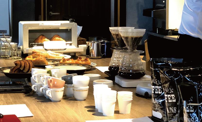 コーヒー,パン